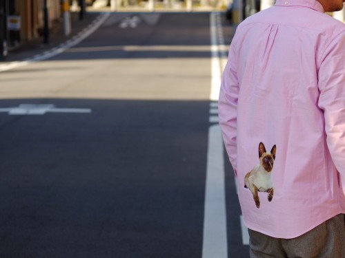 "FP B.D L/S SHIRT (PINK) ""SIAMESE CAT"" for 1F STORE"