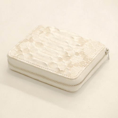 【E R A.】 NATURAL PYTHON ROUND PALM WALLET