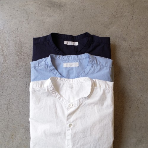 HATSKI  8 Stitch Band Collar Shirt